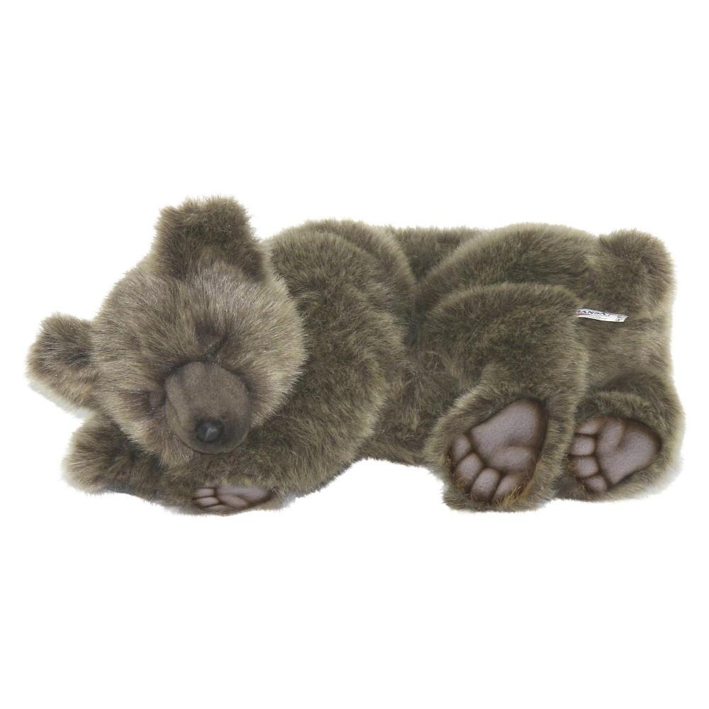 Hansa Sleeping Brown Bear Plush Toy