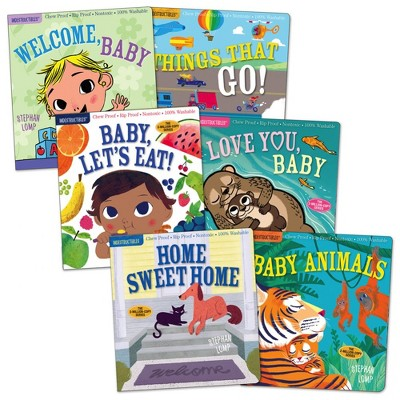 Indestructibles Basic Word Book Set for Infant and Toddlers - Set of 6