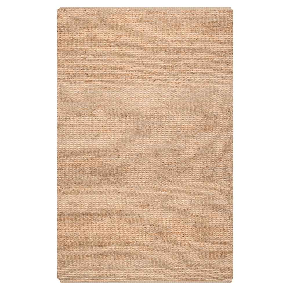 9'x12' Solid Area Rug Natural - Safavieh, White