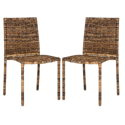 Anra Side Chair - Brown (Set of 2) - Safavieh® - image 1 of 6