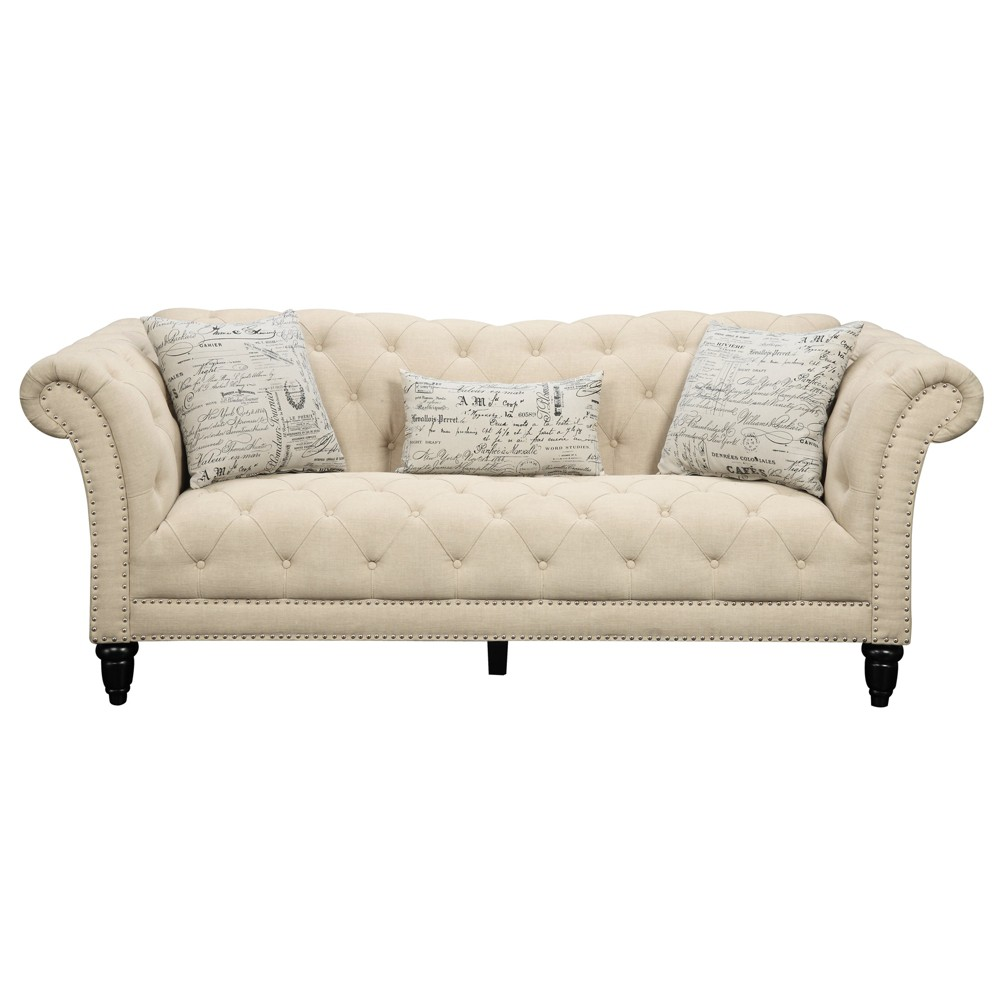 3pc Twine Sofa Set Sofa Loveseat Chair Picket House Furnishings