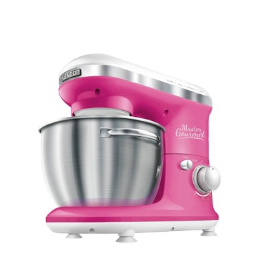 Sencor 4.2qt Stand Mixer with Pouring Shield - Pink