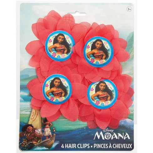Moana 4ct Flower Hair Clips Party Favors - image 1 of 1