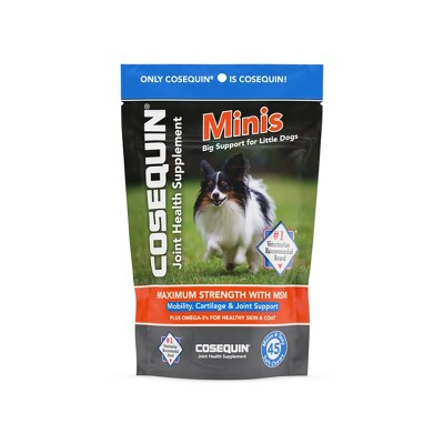 Cosequin Omega 3+ Methylsulfonylmethane Mobility, Cartilage & Joint Support Supplements for Dogs - 45ct