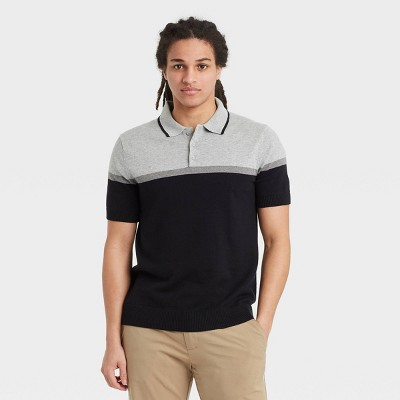 Men's Regular Fit Short Sleeve Sweater Polo -  Goodfellow & Co™
