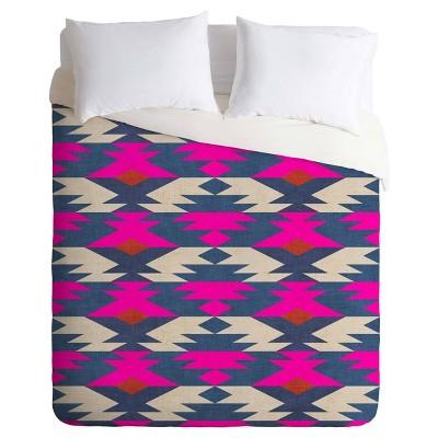 Pink Holli Zollinger Diamond Kilim Duvet Cover Set (King) - Deny Designs