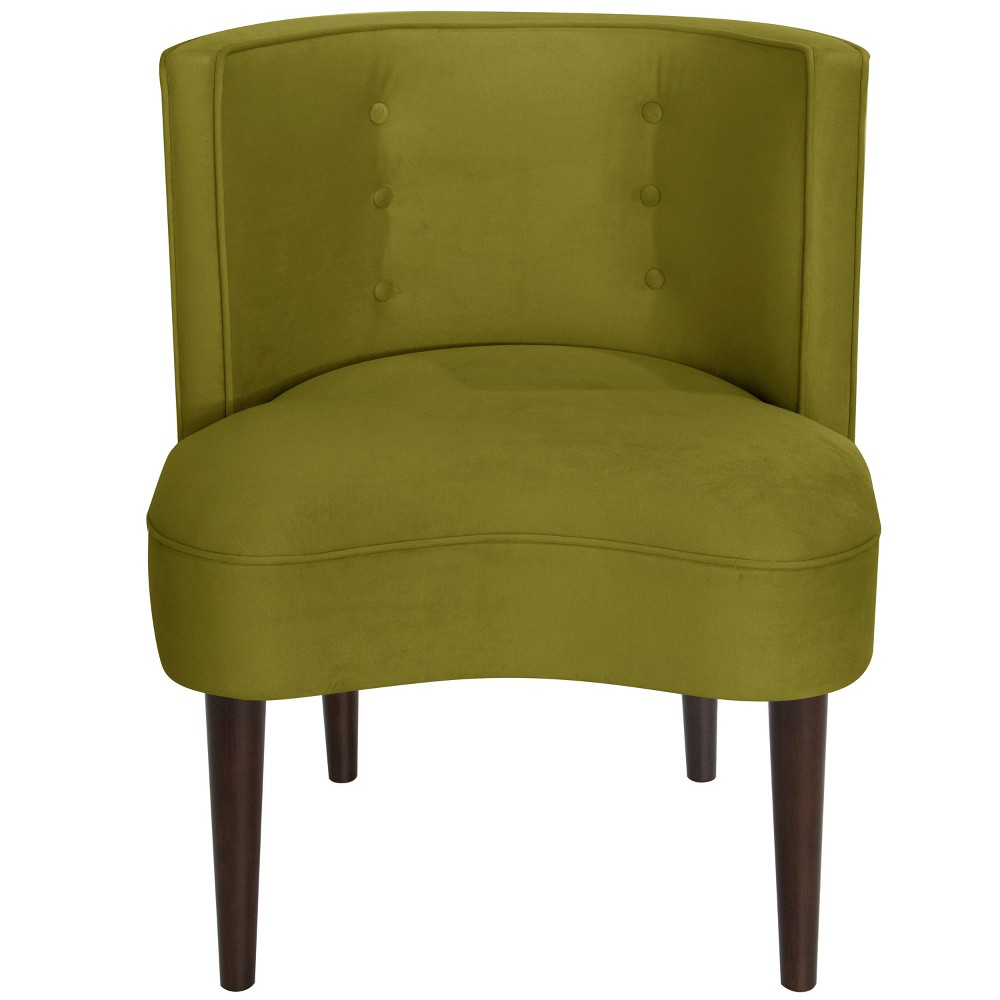 Clary Curved Back Accent Chair Green Velvet - Opalhouse