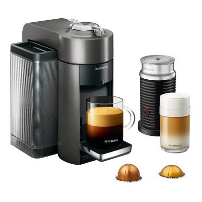 Nespresso Vertuo Coffee and Espresso Machine by De'Longhi with Aeroccino, Graphite Metal
