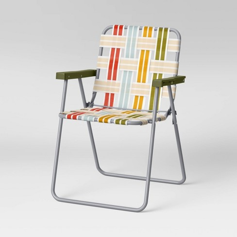Webstrap Patio Folding Chair - Green - Room Essentials™ - image 1 of 4