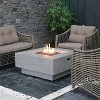 Manhattan Stainless Steel Fire Table Natural Gas - Silver - Elementi - image 2 of 2