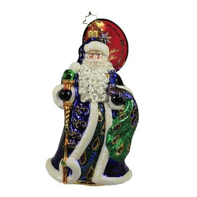 "Christopher Radko 7.0"" Pricely Peacock Santa Ornament Regal Feather Bird  -  Tree Ornaments"