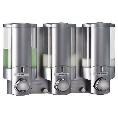Better Living Products AVIVA Three Chamber Dispenser - Satin Silver