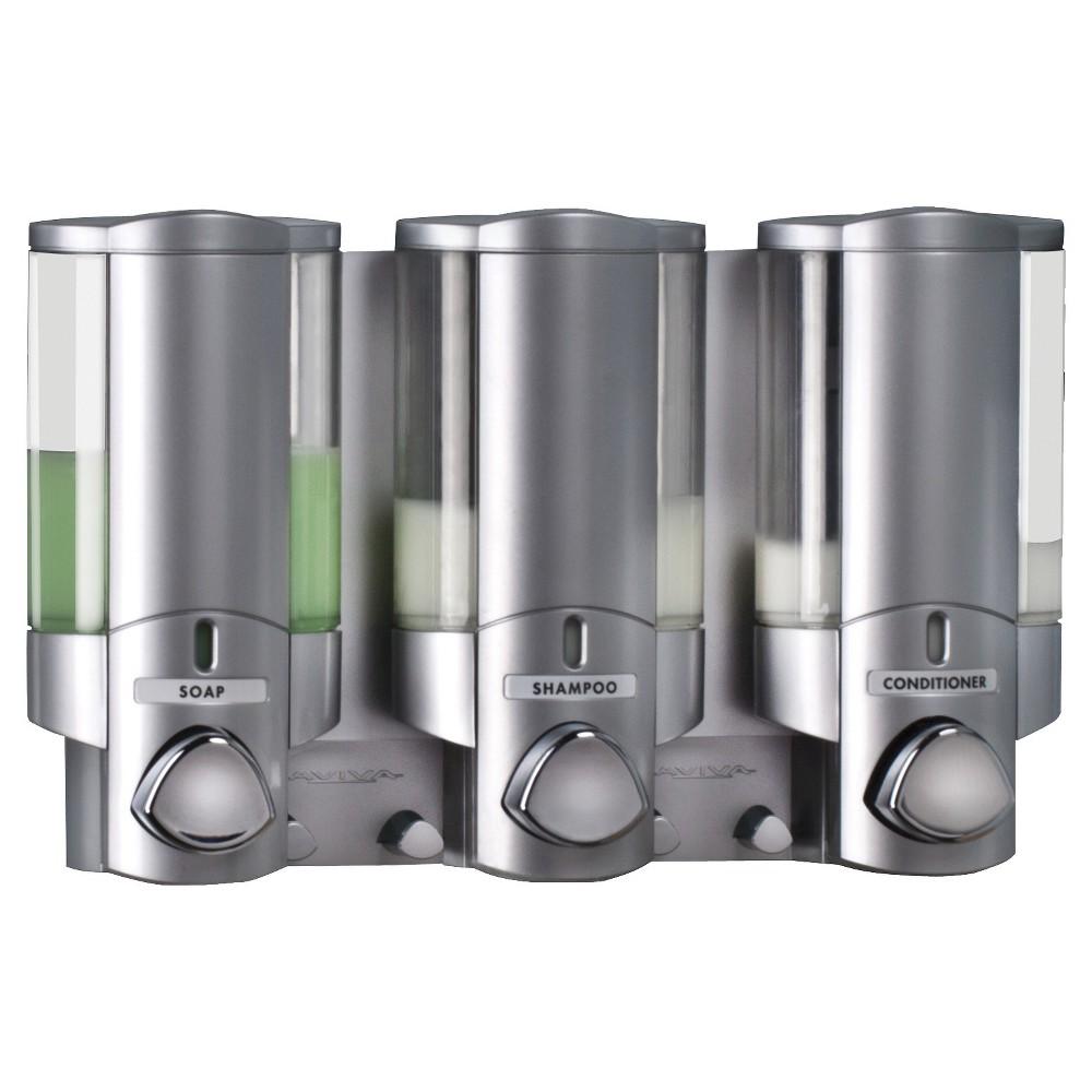 Image of Better Living Products Aviva Three Chamber Dispenser - Satin Silver