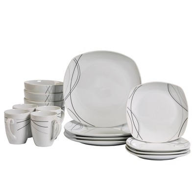 16pc Porcelain Alec Dinnerware Set - Tabletops Gallery