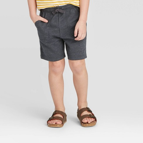 Toddler Boys' Knit Pull-On Shorts - Cat & Jack™ Charcoal - image 1 of 3
