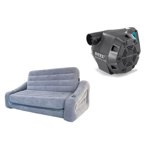 Superb Intex Queen Inflatable Pull Out Sofa Air Mattress Intex 120V Electric Air Pump Beatyapartments Chair Design Images Beatyapartmentscom