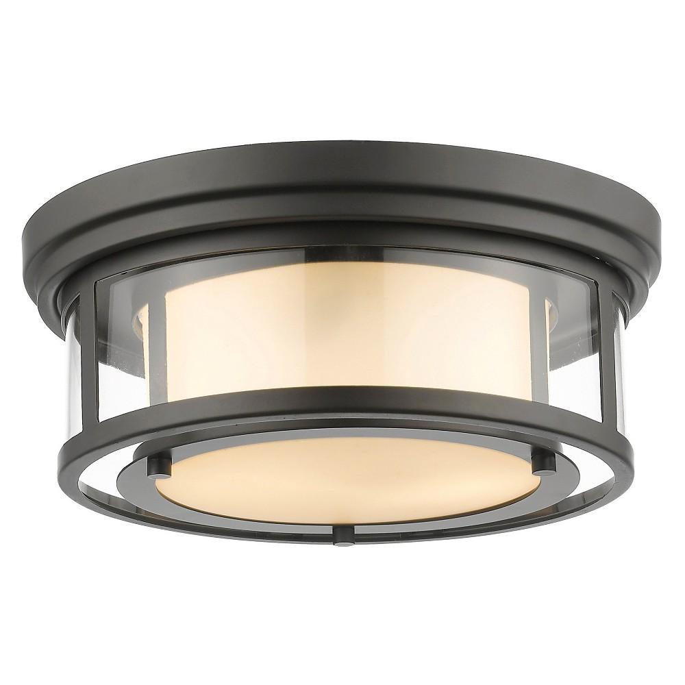 Flush Mount Ceiling Lights with Matte Opal Glass (Set of 2) - Z-Lite, Silver