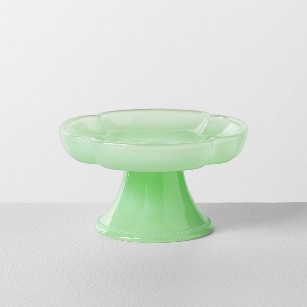 Milk Glass Mini Cupcake Stand Clover Green - Hearth & Hand with Magnolia