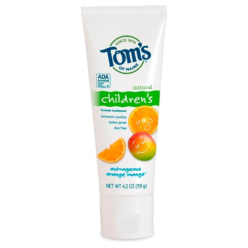 Tom's of Maine® Outrageous Orange Mango Natural Kids Toothpaste - 4.2oz - image 1 of 1