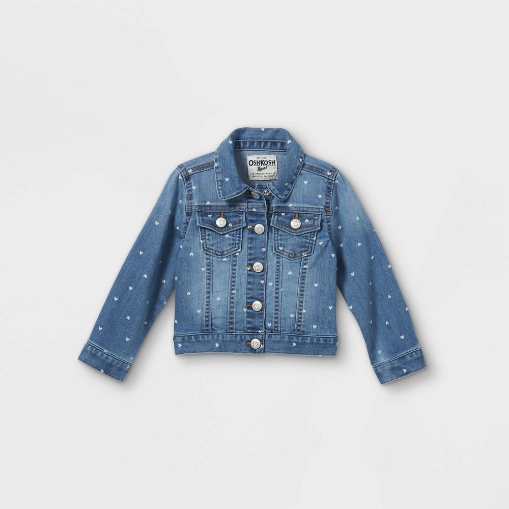 Oshkosh B 39 Gosh Toddler Girls 39 Hearts Long Sleeve Jean Jacket Blue 12m