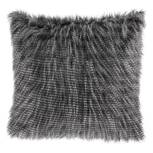 "20""x20"" Adelaide Faux Fur Square Throw Pillow - image 1 of 4"