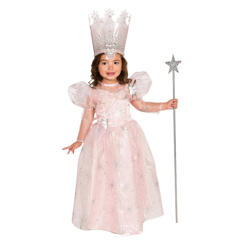 The Wizard of Oz Toddler Deluxe Glinda the Good Witch Costume 2T-4T, Toddler Girl's
