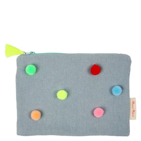 Meri Meri - Chambray Pompom Pouch - Handbags - 1ct - image 1 of 1