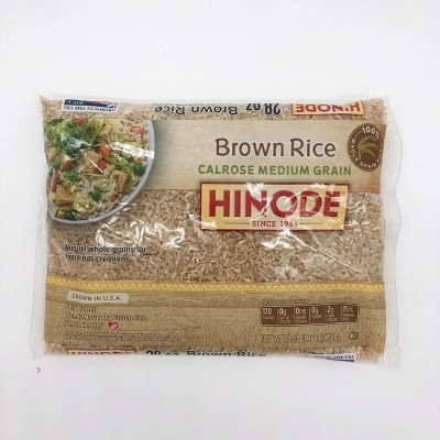 Hinode Medium Grain Calrose Brown Rice - 28oz
