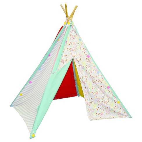 Pacific Play Tents Button and Blooms Reversible Teepee - image 1 of 5