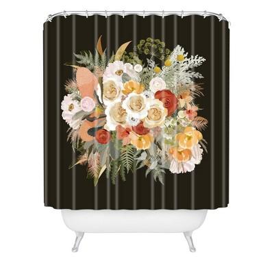 Iveta Abolina Damaris Night Shower Curtain Black - Deny Designs