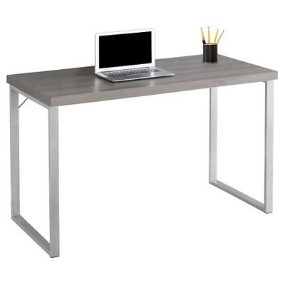 Contemporary Silver Metal Computer Desk - EveryRoom