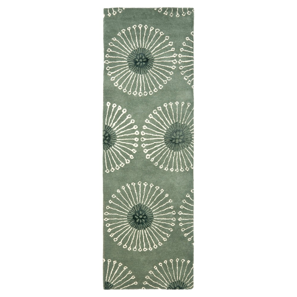 Gray/Ivory Botanical Tufted Runner - (2'6x8' Runner) - Safavieh