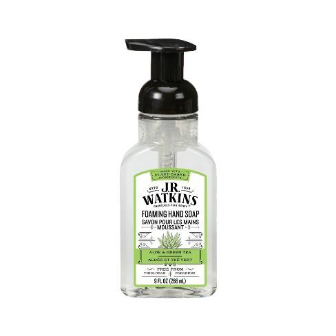 J.R. Watkins Aloe & Green Tea Foaming Hand Soap - 9oz - image 1 of 3