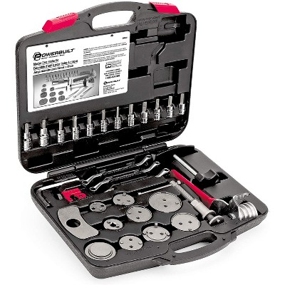 Powerbuilt 648622 Universal Master Disc Brake Tool Repair Kit with Carrying Case for Domestic and Import Vehicles