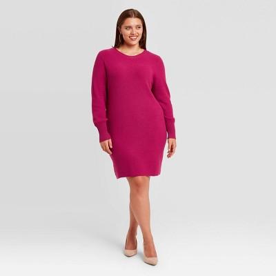 Women's Plus Size Long Sleeve Sweater Dress - Ava & Viv™
