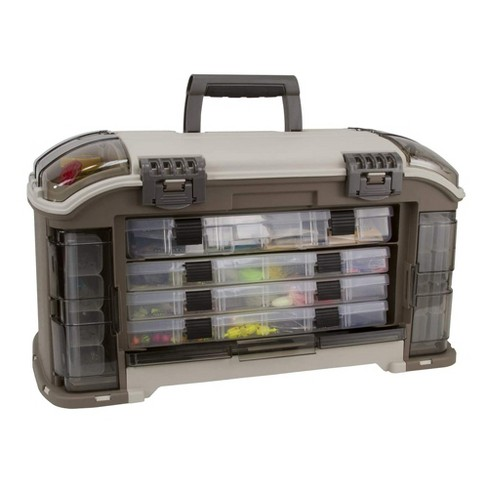 Plano Guide 787 Series Angled StowAway Rack Tackle Box Case System for Fishing Storage with 5 Removable Bait Utility Boxes, Sandstone - image 1 of 4