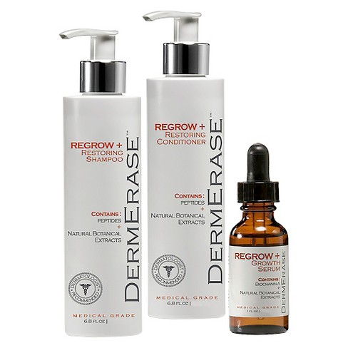 DermErase Hair Regrowth + Restoring Shampoo + Conditioner + Growth Serum Treatments - 1 kit - image 1 of 1