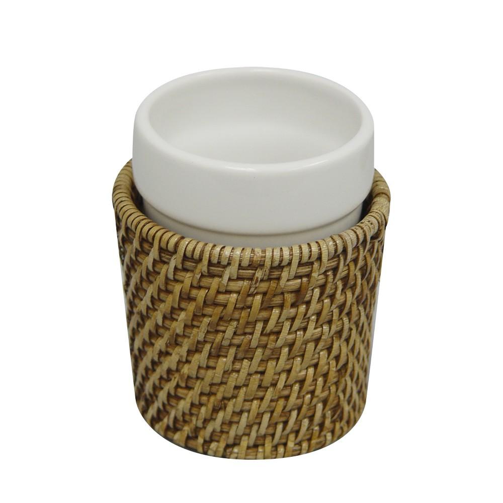 Hana Tumbler Bathroom Tumbler Honey - Elegant Home Fashions