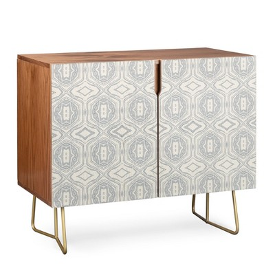 Holli Zollinger Anthology of Pattern Credenza Gold Legs Gray/Geometric - Deny Designs