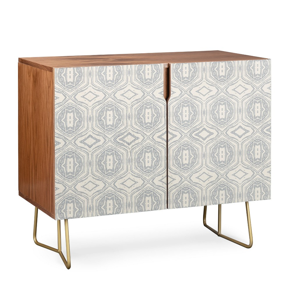 Holli Zollinger Anthology of Pattern Credenza Gold Legs Gray/Geometric - Deny Designs, Gray/Gold Legs