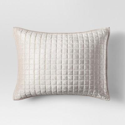 Cream Velvet Grid Stitch Sham (Standard)- Project 62™