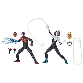 Marvel Legends Series Spider-Man: Into the Spider-Verse Miles Morales and Spider-Gwen (Target Exclusive)