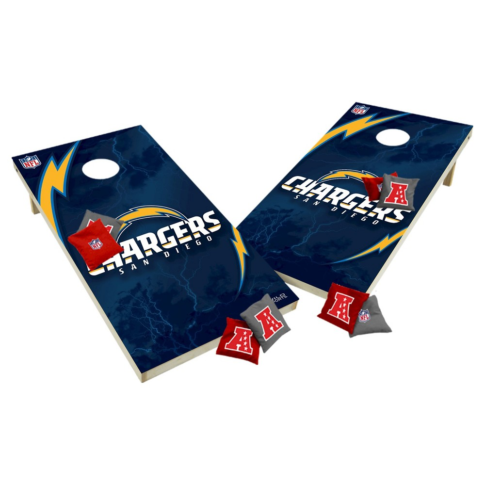 NFL Los Angeles Chargers Wild Sports Tailgate Toss 2x4 Platinum Shield