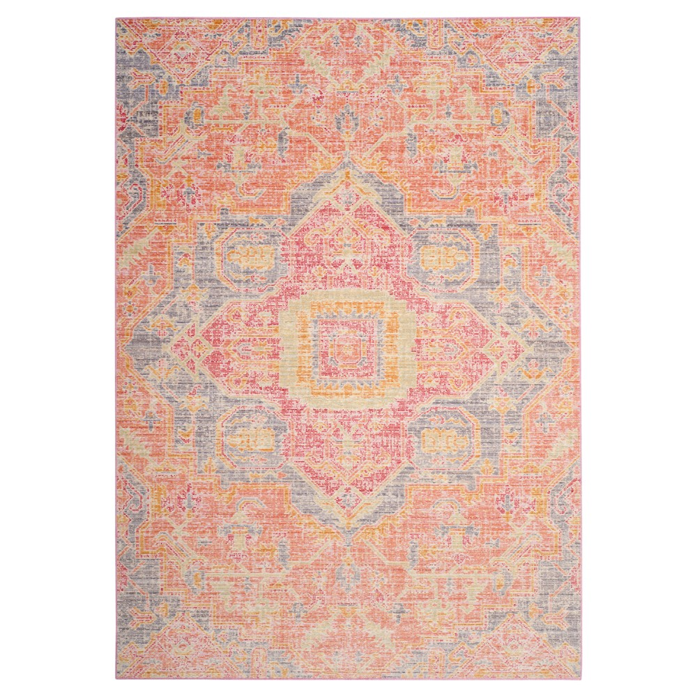 Fuchsia/Blue (Pink/Blue) Medallion Loomed Area Rug 9'X13' - Safavieh