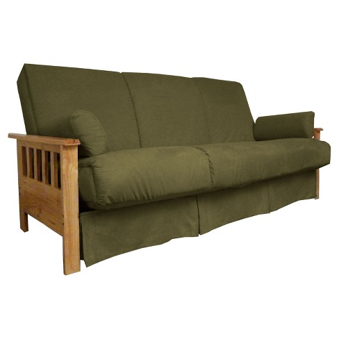Mission Perfect Convertible Futon Sofa Sleeper Natural Wood Finish Sit N Sleep