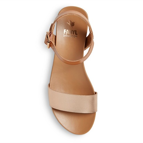 e60b86b1edd7 Women s Faryl by Farylrobin Catalina White Bottom Ankle Strap Sandals. Shop  all Faryl by Farylrobin