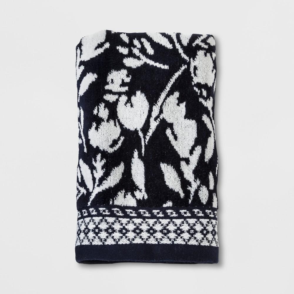 Woven Hand Towel Xavier Navy - Threshold, White Blue