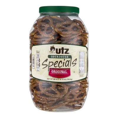 Utz Sourdough Specials Pretzels Barrel - 28oz