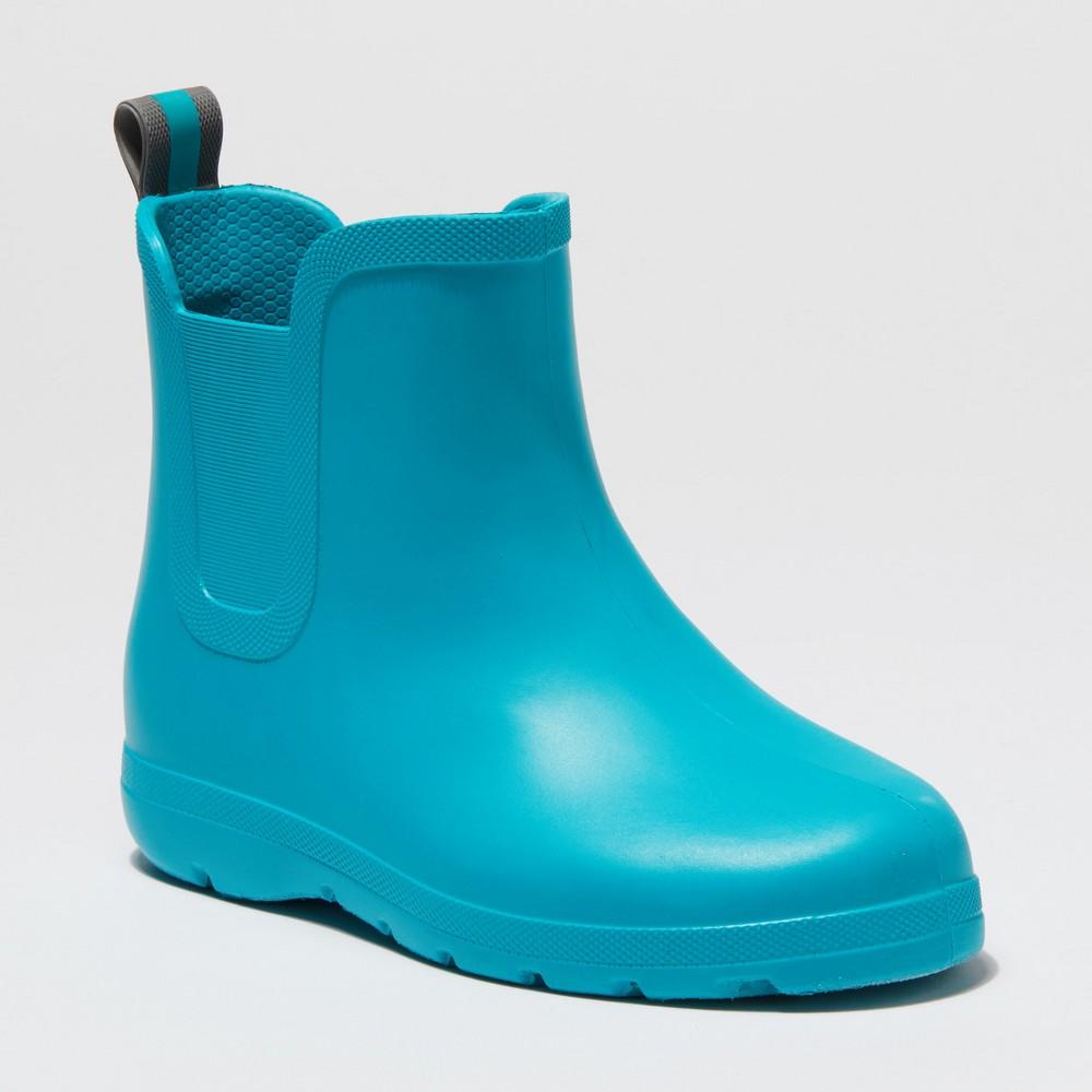 Kid's Totes Cirrus Ankle Rain Boots - Turquoise 5-6, Kids Unisex