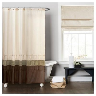 Mia Shower Curtain Green/Brown - Lush Decor®